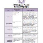 New York University Adjunct Faculty Contract